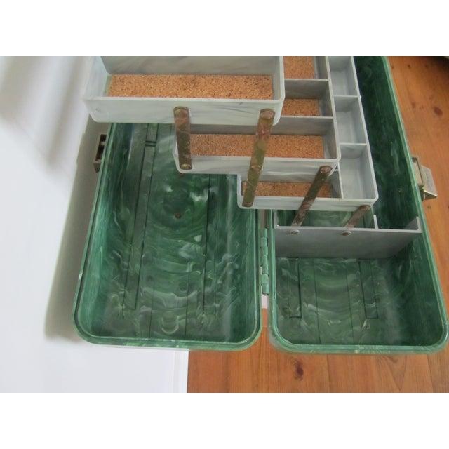 Green Marbleized Malachite Style Storage Box - Image 7 of 8