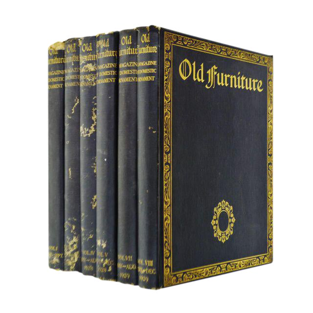 """1920s Vintage """"Old Furniture: A Magazine of Domestic Ornaments"""" Books - Set of 6 - Image 1 of 10"""