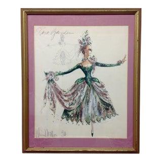 "Original Nicole Miller Gown Design ""Rose Garden"""