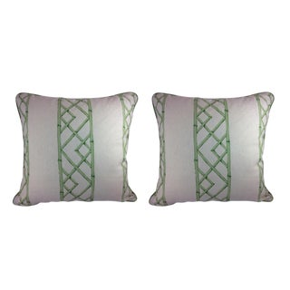 "Sarah Richardson's ""Latticely"" in Jade Pillows - a Pair"