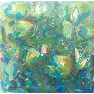 "Abstract Painting by Trixie Pitts ""Water Lily Pond"""