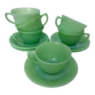 Vintage Jadite Tea Cup Set of 6