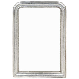 Louis Philippe Period Silver Leaf Beaded Mirror