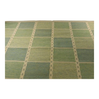 Swedish Flat Weave in Forest Green Rug - 8' X 10'