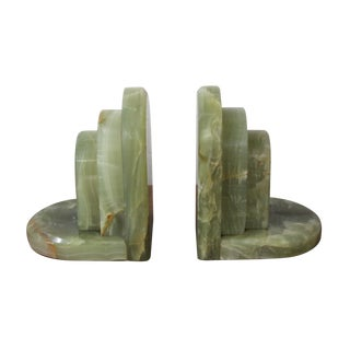 Vintage Onyx Hollywood Regency Bookends - A Pair