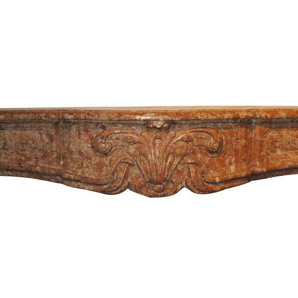 French Country Caramel Colored Stone Mantel - Image 2 of 5