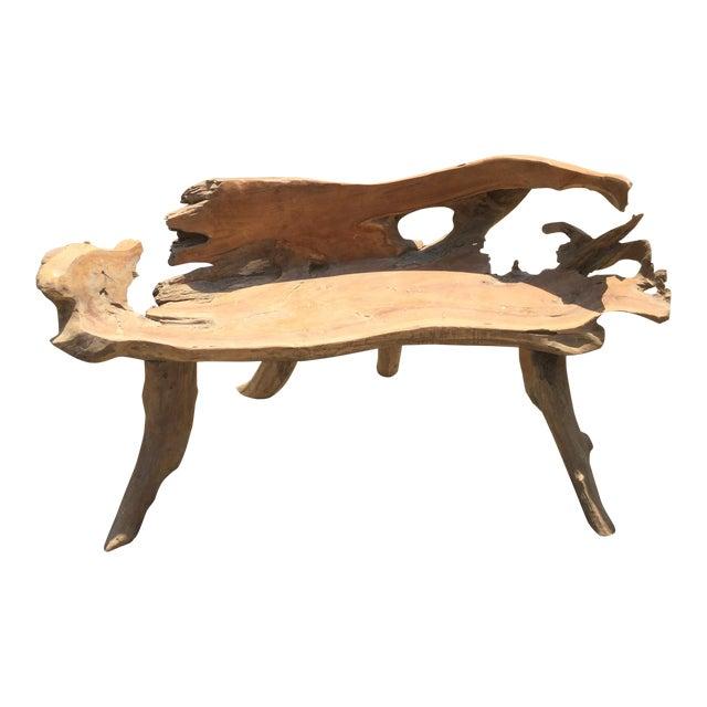 Teakwood Root Bench - Image 1 of 8
