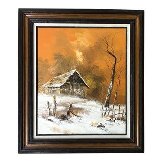 Vintage Original Landscape Oil Painting