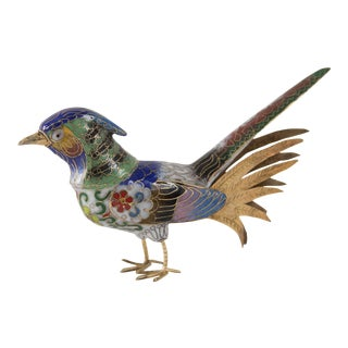 Vintage Cloisonné Bird Figurine