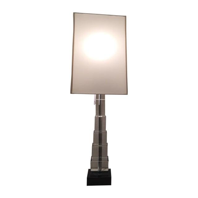 Skyscraper Crystal Lamps - Pair - Image 1 of 7