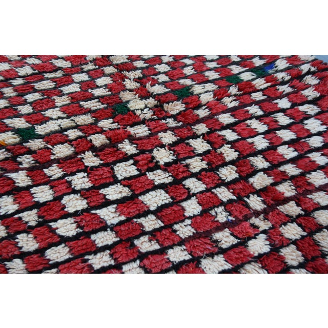 Red & White Moroccan Rug - 5' X 4'3'' - Image 4 of 4