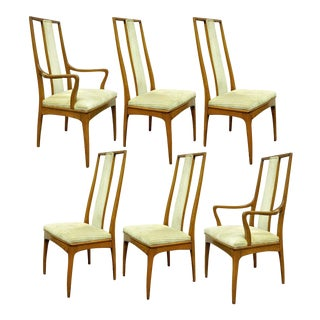 Vintage John Stuart Mid-Century Danish Modern Walnut Dining Chairs - Set of 6