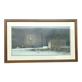 Winter at the Farm Print
