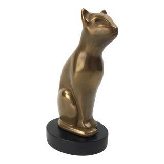 Vintage Art Deco Style Dewitt Bronze Sculpture