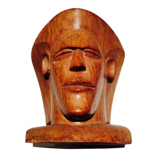 Vintage Fiji Vesi Wood Sculpted Bust