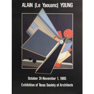 Alain Le Yaouanc Exhibition of Texas Society of Architects Lithograph