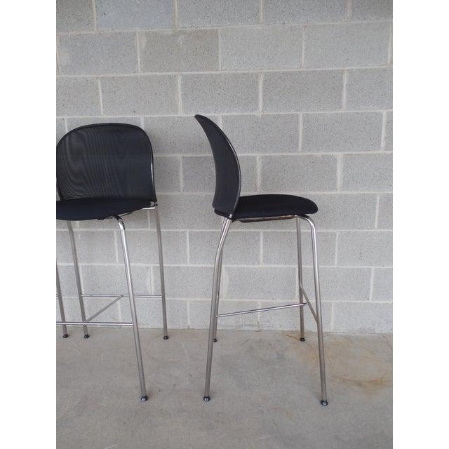 Christoph Hindermann Design for Davis Furniture Modern Bar Stools - Set of 3 - Image 6 of 10