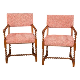 Very Fine Jacobean-Style Chairs - a Pair