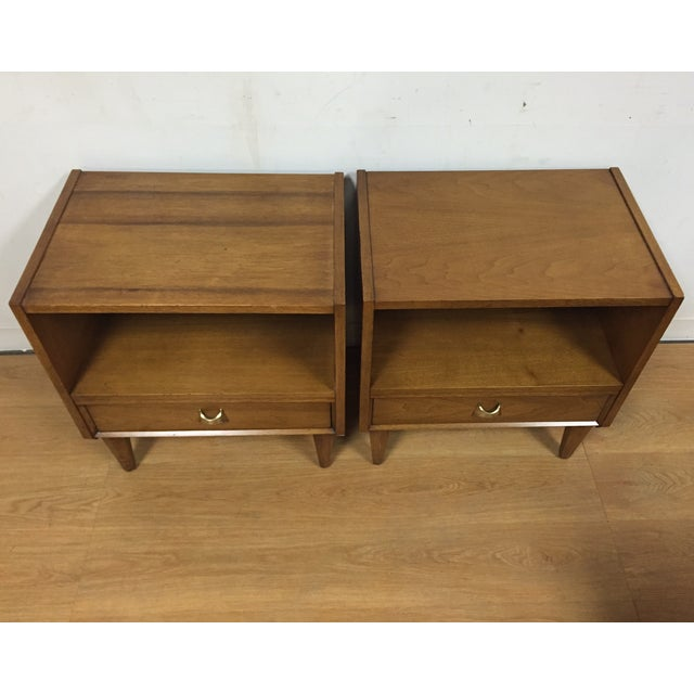 Brasilia Style Nightstands - a Pair - Image 3 of 11