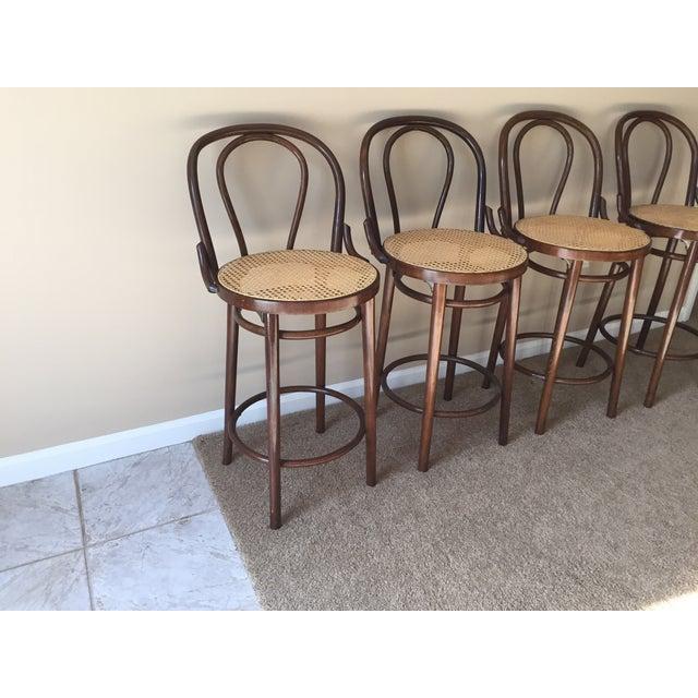 Thonet Style Bentwood Bar Stools - Set of 4 - Image 3 of 11