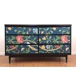 Image of Asian Printed Mid-Century 6-Drawer Dresser