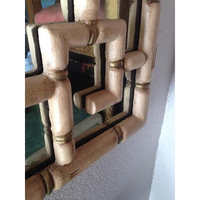 Image of Hollywood Regency Style Faux Bamboo Mirror