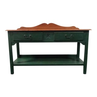 Ethan Allen Country Crossings Console Table