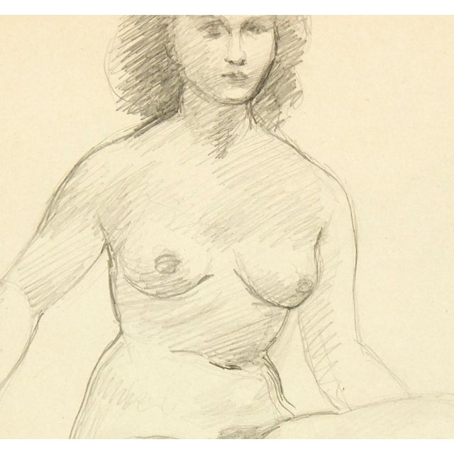 Female Figure Drawing Free Mat&Shipping, C. 1940 - Image 2 of 3
