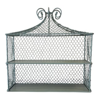 Chicken Wire Pagoda Display Shelves