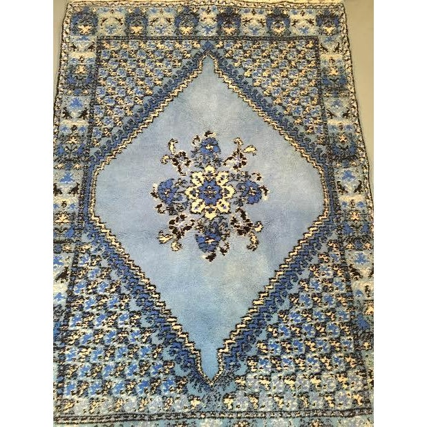 Large Blue Moroccan Rug - 4' x 6' - Image 3 of 9