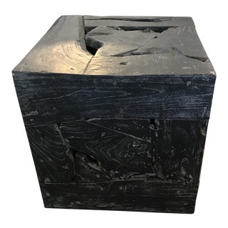 Teak Cube Table