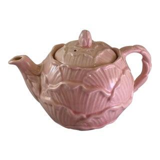 Falcon Ware English Majolica Cabbage Teapot