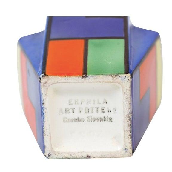 Art Deco Cubist Color Block Vase - Image 3 of 4