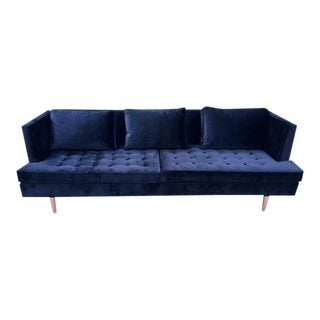 Custom Wormley Style Sofa With Copper Legs