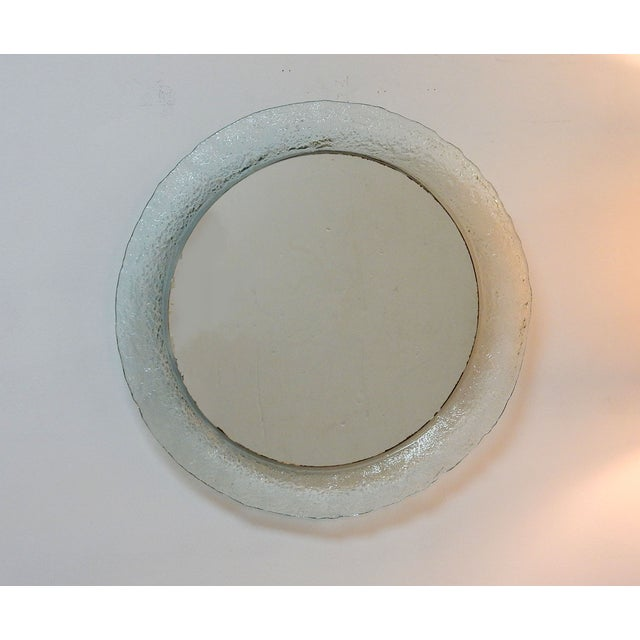 Image of Round Clear Murano Glass Wall Mirror