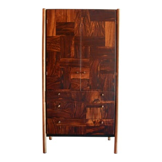 Rougier Jacaranda Wood, Bronze and Black Lacquer Cabinet, Canada, 1970