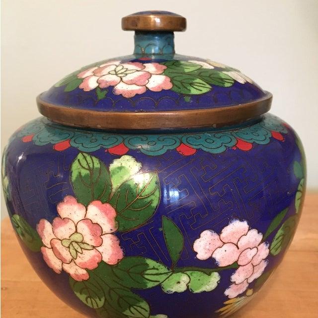 Vintage Cloisonné Bowl With Lid - Image 4 of 11