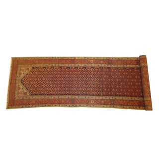 "Antique Persian Malayer Runner Rug - 16'8"" x 3'6"""