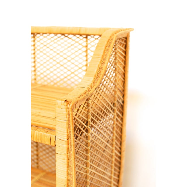 Natural Rattan Bamboo Etagere - Image 4 of 6