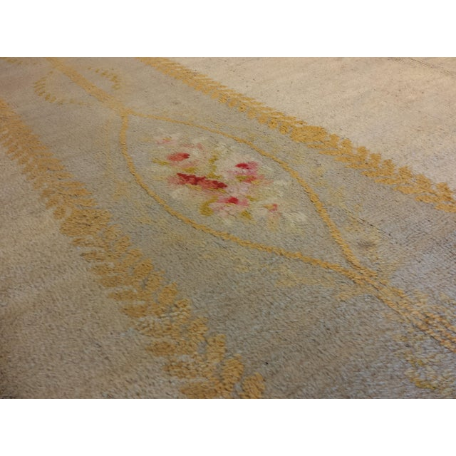 """Antique French Savonnerie style carpet 17' 4"""" x 18' - Image 3 of 4"""