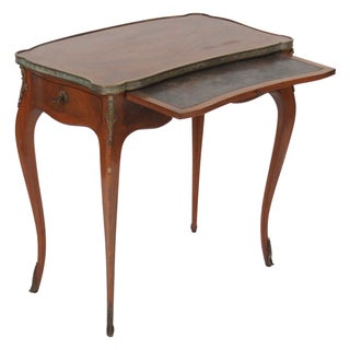 Antique Diminutive French Bronze Mounted Desk