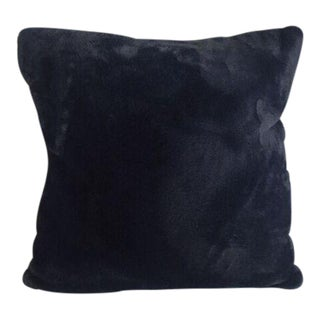 Kim Salmela Navy Faux Fur Pillow