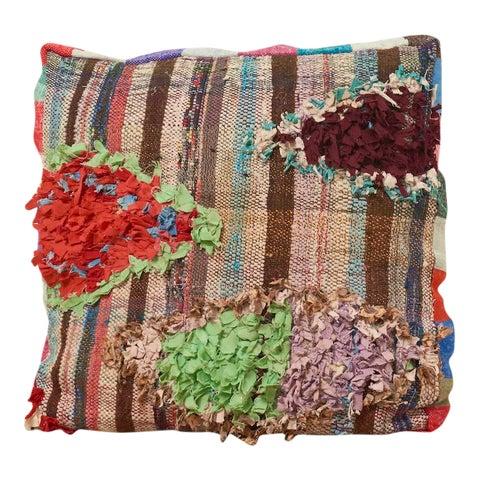 Image of Moroccan Multicolor Floor Cushion Pouf