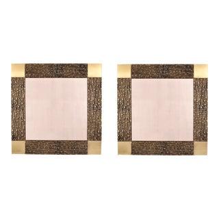 Frigerio Sculptural Bronze Mirrors - A Pair