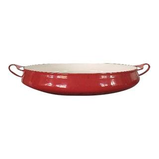 Vintage Dansk Kobenstyle Red Paella Pan