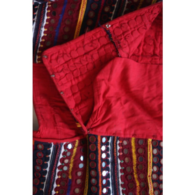 Image of Vintage Kurti Hand Embroidered Red Top