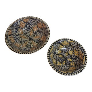 Vintage Turkish Serving Dishes - A Pair