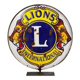 Lion's Club International Sign
