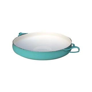 Dansk Kobenstyle Enamel Turquoise Paella Pan
