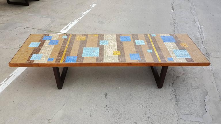 Outstanding Large Scale Mosaic Tile Coffee Table   Image 2 Of 9